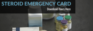 Steroid Emergency Card